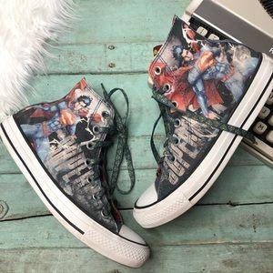 RARE CONVERSE Sneakers 7/5 Vintage Superman